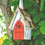 Heartwood - Flock of Ages Bird House - This  beautiful  bird  house  is  the  perfect  addition  to  any  home  or  garden  of  your  choice.  'Tis  a  gift  to  be  simple,  the  old  Shaker  hymn  tells  us,  and  the  perfect  simplicity  of  this  delightfully  rustic  chapel  is  a  gift  indeed  for  your  feathered  flock.  Painted  white  and  carefully  aged  for  the  look  of  a  country  church,  this  is  the  kind  of  old  tyme  religion  that  will  have  your  birds  singing  praises  to  the  skies.  You  are  sure  to  enjoy  this  bird  house  in  the  years  to  come.                  6x8x16              1-1/4  hole              Handcrafted  in  USA  from  renewable,  FSC  certified  wood