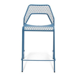 Blu Dot - Hot Mesh Counterstool by Blu Dot - The life of the party everywhere it sits. Made entirely out of steel, the Blu Dot Hot Mesh Counterstool is strong and lightweight. It adds a bright graphic punch to settings indoors and out with its vibrant powder coated finish and the eye-catching cubic mesh pattern of the seat and back. In 1997, Blu Dot was established in Minneapolis by three college friends with a shared passion for art, architecture and design. Then and today, their goal is to bring good design to as many people as possible, collaborating to create modern home furnishings and accessories that are useful, affordable and exceedingly desirable.