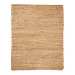 Portland Natural Jute Rug - Jute brings a magnificent, chunky texture to any space. These rugs are expertly handloom-woven by skilled weavers who employ a variety of traditional techniques to create these simply beautiful styles. Jute fibers exhibit naturally anti-static, insulating and moisture regulating properties. It is predominantly farmed by approximately four million small farmers in India and Bangladesh and supports hundreds of thousands of workers in jute manufacturing (from raw material to yarn and finished products).