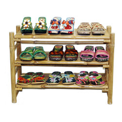 Bamboo54 - Bamboo Folding Shoe Rack - Get shoes out from underfoot with this Shoe Rack. This durable eco friendly all natural folding rack is made from high quality bamboo. It works well for small spaces and can hold up to 12 pairs of many types of shoes. This product has been fumigated and treated for maintaining its high quality. This shoe rack is designed to complement any home setting. Impresses with simple and functional design, this piece will help keep footwear organized and arranged for easy retrieval.