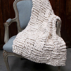 Chess Throw - This lovely 'Chess Throw' brings a sophisticated rustic chunky chess pattern design.