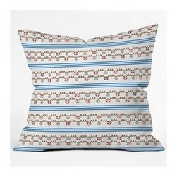 "DENY Designs - Jennifer Denty Anchor Small Throw Pillow - Wanna transform a serious room into a fun, inviting space? Looking to complete a room full of solids with a unique print? Need to add a pop of color to your dull, lackluster space? Accomplish all of the above with one simple, yet powerful home accessory we like to call the DENY Throw Pillow! Features: -Jennifer Denty collection. -Color: Print. -Material: Woven polyester. -Sealed closure. -Spot treatment with mild detergent. -Made in the USA. -Closure: Concealed zipper with bun insert. -Small dimensions: 16"" H x 16"" W x 4"" D. -Medium dimensions: 18"" H x 18"" W x 5"" D. -Large dimensions: 20"" H x 20"" W x 6"" D. -Product weight: 3 lbs."