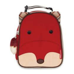 Skip Hop - SKIP*HOP Zoo Lunchies Insulated Lunch Bag in Fox - With friendly faces and matching zipper pulls, Zoo Lunchies make lunchtime fun time. Sized just right for little kids or a mom and baby on the go, these soft bags have a roomy main compartment that holds sandwiches, snacks, drinks and more.