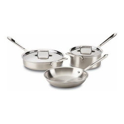 All-Clad - All-Clad d5 Brushed Stainless 5-Pc Cookware Set - Includes: