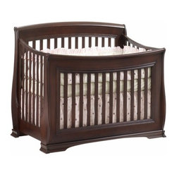 "Natart - Natart | Bella ""4-in-1"" Convertible Crib - Made in Canada by Natart. For the child in a seemingly constant state of growth, Natart has a crib to match. The Bella ""4-in-1"" Convertible Crib accommodates every stage of childhood. The crib converts into a toddler bed with the optional Toddler Gate, and also acts as a day bed. Finally, with the addition of the separate Double Bed Conversion Rails, the Bella ""4-in-1"" Convertible Crib will transform into a spacious double bed that will see your child through his or her teenage years. Featuring the flowing curves that define the Bella Collection, this crib can also be enhanced with an optional Upholstered Panel, adding further to the elegance of your child's bedroom. Product Features:  Meets all USA and Canadian Safety standards GREENGUARD GOLD Certified to be low in VOCs for a safe and healthy nursery Fixed stationary side and Hidden hardware for safety Double Bed Conversion Rails available separately Toddler Gate available separately Can be enhanced with optional upholstered panel Made from solid beechwood Mattress support adjustable in three positions Surface treated with high-resistance finish"
