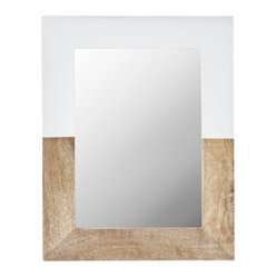 Nate Berkus Two-Tone Mirror, Wood/White