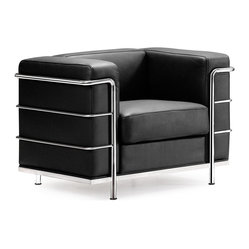 Zuo Modern Fortress Arm Chair Black A Mid Century