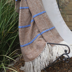 Blue Melange Throw - This unique 'Blue Striped Melange Throw' brings a rustic chic style that makes it ideal for home décor, being able to be used as covers for chairs, beds, armchairs and sofas or paths, folders and sides of bed.