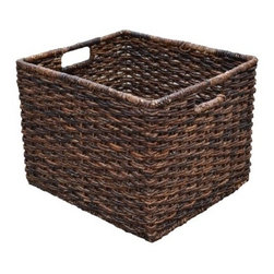 Threshold Global Large Milk Crate, Dark Brown - Corral laundry supplies is baskets like these for an instant upgrade. This will probably be the first fix in my laundry room.