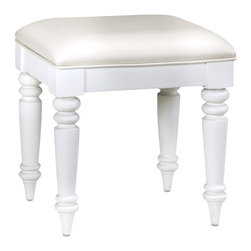 Home Styles - Home Styles Bermuda Vanity Bench in White Finish - Home Styles - Vanity Benches - 554328 - The Bermuda Collection by Home Styles is inspired by the fusion of British traditional and old world tropical design.