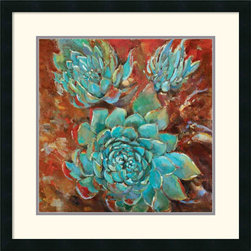 Amanti Art - Blue Agave I Framed Print by Jillian David Design - With nature-inspired imagery in rich, colorful hues, this fine art print will infuse your home with an earthy beauty.