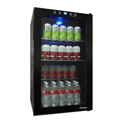 Vinotemp - Vinotemp - VT-34 Touch Screen Beverage Cooler - Store your wine & beverages in style with the sleek VT-34 Touch Screen Beverage Cooler by Vinotemp. The VT-BC34 TS comes with 3 adjustable shelves, a blue LED interior light to illuminate your beverages and glass door.