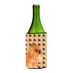 Caroline's Treasures - Brussels Griffon Fall Leaves Portrait Wine Bottle Koozie Hugger SS4362LITERK - Brussels Griffon Fall Leaves Portrait Wine Bottle Koozie Hugger SS4362LITERK Fits 750 ml. wine or other beverage bottles. Fits 24 oz. cans or pint bottles. Great collapsible koozie for large cans of beer, Energy Drinks or large Iced Tea beverages. Great to keep track of your beverage and add a bit of flair to a gathering. Wash the hugger in your washing machine. Design will not come off.