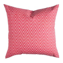 Coral Tall Chevron Pillow - Reminiscent of the mesmerizing city experience of Dubai, the dynamic vibe of Tall Chevron draws you in and can't be forgotten.
