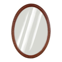 """JSG Oceana - Cambridge 24"""" x 34"""" Vanity Mirror - Features: -Vanity mirror. -Cambridge collection. -Available in: -Espresso finish. -Oak finish. . -Brings enduring style and elegance to the home. -Wall mount. Specifications: -Made in USA. -Oceana provides limited one year warranty. -Overall dimensions: 34"""" H x 24"""" W x 1.25"""" D."""