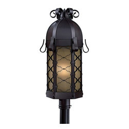 The Great Outdoors - The Great Outdoors GO 9246-PL Single Light Down Lighting Energy Star Outdoor Pos - Single Light Energy Star Outdoor Post Light from the Montalbo CollectionEuropean traditional designs with Mediterranean influences. Unique double black-plate adds a historical touch to this finely crafted series.
