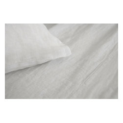 Area Inc. - Claire White Full/Queen Duvet Cover - Area Inc. - Achieve a relaxed, beach style vibe in your bedroom with the Claire White Full/Queen Duvet Cover. Made from 100% washed linen, this white duvet is lightweight but sturdy. Button Closure makes for easy fastening. Pair it with other bedding from the Claire White collection for a simple, monochromatic look. Linen will soften with use and care.