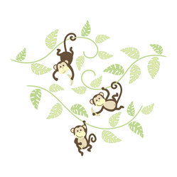 Monkeying Around Wall Art Decal Kit