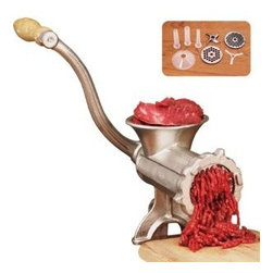 WESTON PRODUCTS LLC - #10 Manual Meat Grinder - Manual Tinned Meat Grinder, with food safe electroplated tin coating.