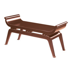 Sterling Industries - Sterling Industries 6041092 Dynasty Bench in Cherry - Transitional Accent Bench Suitable For Oriental Decors.  Is Ideal As A Hall Or End Of Bed Bench.   Bench (1)