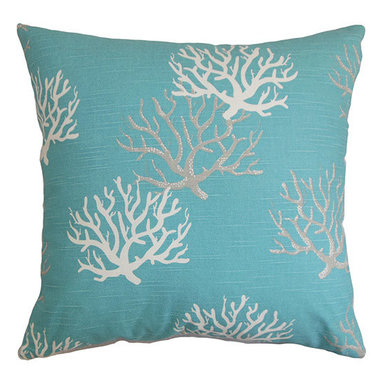 The Pillow Collection - Hafwen Blue 18 x 18 Coastal Throw Pillow - - Pillows have hidden zippers for easy removal and cleaning  - Reversible pillow with same fabric on both sides  - Comes standard with a 5/95 feather blend pillow insert  - All four sides have a clean knife-edge finish  - Pillow insert is 19 x 19 to ensure a tight and generous fit  - Cover and insert made in the USA  - Spot clean and Dry cleaning recommended  - Fill Material: 5/95 down feather blend The Pillow Collection - P18-PP-ISADELLA-COASTALBLUE-C1