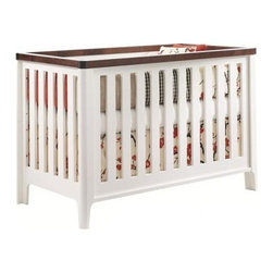 Tulip - Tulip Piccolo 4-1 Convertible Crib, Java & French White - Inspired by an upscale urban lifestyle, this collection incorporates green components with a subdued modern design, and is proudly made in Quebec, Canada.