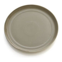 Hue Taupe Salad Plate - Our fresh, contemporary porcelain pattern from designer Aaron Probyn tells a mix 'n' match color story, hand-glazed in eight soft, soothing hues. Simple artisanal shapes feature grooved detailing and a glowing, glossy finish, here in tasteful taupe. Due to their handcrafted nature, slight variations will be present. Also available in ivory, white, dark grey, blue, green, light grey and blush.