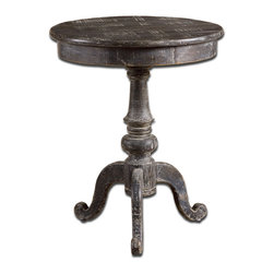 Uttermost - Uttermost 24245 Cadey Reclaimed Wood Side Table - Uttermost 24245 Cadey Reclaimed Wood Side Table