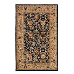 """Safavieh - Persian Legend Blue/Yellow Area Rug PL819C - 2'6"""" x 8' - Inspired by the legendary designs of Persia's most prestigious rug-weaving capitals, these extraordinary reproductions recreate some of the most prized antiques in Safavieh's archival collection. Intricate Tabriz, Lavar Kerman and Isfahan hand-knotted motifs are remarkably adapted to these hand-tufted rugs of incomparable quality. The finest New Zealand wool is chosen to achieve the intricate weave of these carpets. With utmost attention to every detail, Safavieh creates its Persian Legends Collection in India to provide consumers an exquisite yet affordable artisan-crafted look."""