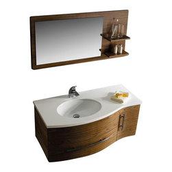 Vigo - VIGO VG09005108LHK 44-inch Vanity w/ Mirror - Get people talking with this exquisite VIGO bathroom vanity. No other brand can match VIGO's style, quality and design.