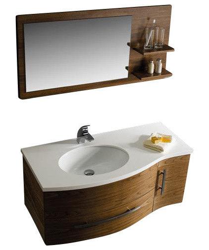 Traditional Bathroom Vanities And Sink Consoles VIGO VG09005108LHK 44-inch Vanity w/ Mirror