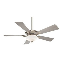 Minka Aire - Mink Aire Delano Ceiling Fan in Polished Nickel - Minka Aire Delano Model MF-F701-PN in Polished Nickel with Silver Colored Finished Blades.
