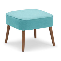Zuo Modern Contemporary, Inc. - Buckeye Stool Aqua - Wide with splayed legs, the Buckeye Stool is sturdy yet stylish. Complements brightly colored rooms or adds pop to more sedate spaces. Comes in sunkist, mustard or aqua.