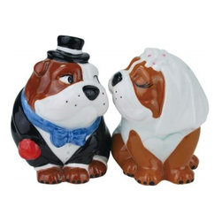 Westland - 3.5 Inch Multi-Colored Wedding Bulldogs Salt and Pepper Shakers - This gorgeous 3.5 Inch Multi-Colored Wedding Bulldogs Salt and Pepper Shakers has the finest details and highest quality you will find anywhere! 3.5 Inch Multi-Colored Wedding Bulldogs Salt and Pepper Shakers is truly remarkable.