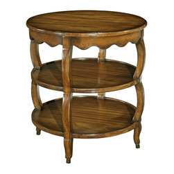 "EuroLux Home - New Small Tier Table Round 27"" Provincial - Product Details"