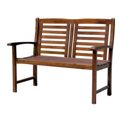 International Caravan - International Caravan Trinidad Outdoor 4' Patio Bench - International Caravan - Outdoor Benches - VF4306 - For over 44 years International Caravan has been one of the leaders in quality outdoor and indoor furniture. Using only the finest materials they bring skill craftsmanship and complete dedication to those who enjoy their furniture. You cannot go wrong with any of International Caravan's beautifully constructed pieces of furniture that are sure to be a focal point inside or outside of your home for years to come.