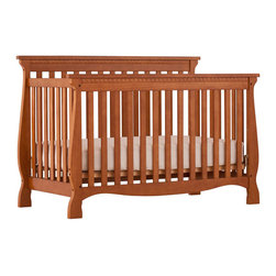 Stork Craft - Stork Craft Venetian 4-in-1 Fixed Side Convertible Crib in Oak - Stork Craft - Cribs - 0458713L - Experience nursery luxury at its very best with the Venetian 4 in 1 Fixed Side Convertible Crib by Stork Craft.This is a classic crib with graceful elegant curves and timeless design. The construction of the Venetian is sturdy the finish is gorgeous the design is stunning and the value is impressive. With secure static side rails this piece provides the ultimate in stability and function. This crib will grow with your child as it converts from a full size crib to a toddler bed to a daybed to a full-size bed (bed rails not included). Set-up this timeless piece effortlessly with its simple easy to follow assembly directions. Complete your nursery look by adding a Stork Craft changing table chest dresser or glider and ottoman. Features:
