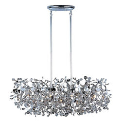 Maxim Lighting - Maxim Lighting 24206BCPC Comet Polished Chrome Island Light - 7 Bulbs, Bulb Type: 40 Watt G9 Xenon, Bulbs Included