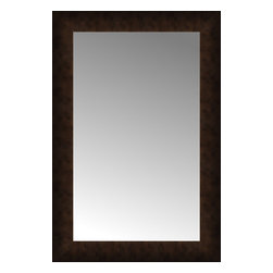 """Posters 2 Prints, LLC - 18"""" x 26"""" Dark Copper Custom Framed Mirror - 18"""" x 26"""" Custom Framed Mirror made by Posters 2 Prints. Standard glass with unrivaled selection of crafted mirror frames.  Protected with category II safety backing to keep glass fragments together should the mirror be accidentally broken.  Safe arrival guaranteed.  Made in the United States of America"""