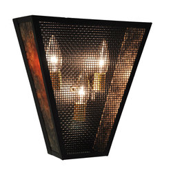 Steel Partners Inc - Vegas Sconce - PLAIN - Mesh - Every piece we create is unique — handcrafted at our factory in Chehalis, Washington, USA. Due to this, lead times are 2 to 4 weeks.