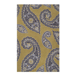 Surya - Surya Hudson Park HDP-2021 (Green Yellow, White) 8' x 10' Rug - With contemporary color scheme, Surya's Hudson Park collection is a unique blend of chic area rugs. Designed by Angelo Surmelis and hand-tufted in China this area rug is sure to be a great accent piece for any casual or formal area.