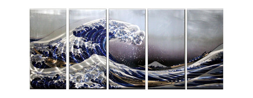 Matthew's Art Gallery - Metal Wall Art Modern Sculpture Seascape Ocean Storm - Name: Ocean Storm