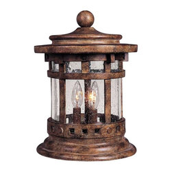 Maxim Lighting - Maxim Santa Barbara Cast 3-Light Outdoor Deck Lantern Sienna -3132CDSE - Santa Barbara Cast is a transitional style collection from Maxim Lighting Interior in Sienna Finish with Seedy glass.