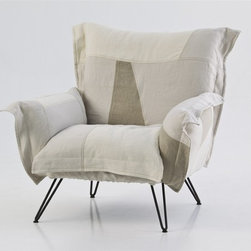 """Cloudscape Lounge Chair by Diesel - Moroso, with Diesel, has created a collection of products with a relaxed and comfortable mood, taking its inspiration from an informal lifestyle concept and targeting consumers who like simple shapes yet at the same time seek a """"modern"""" style made up of high quality combined with a distinctive design of pure lines."""
