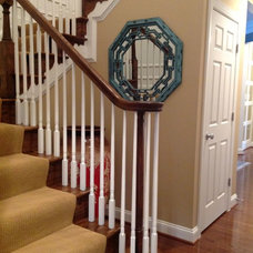 Traditional Staircase by Value Blind & Heirloom Draperies Inc