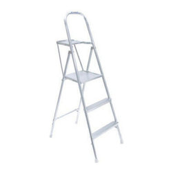 Werner - Werner Aluminum Project Step Ladder Multicolor - 3720-4716 - Shop for Ladders from Hayneedle.com! The Werner Aluminum Project Step Ladder is perfect for remodeling repainting or any other project you have around the house. Crafted from tubular aluminum this step ladder is highly durable and can hold up to 200 lbs. Best of all it has something other ladders don't: an attachment for holding your paint cans tools and rags! And since it reaches a height of 4.5 feet you'll be happy you won't have to climb all the way back down for supplies again and again making this a very convenient ladder indeed!About WernerWhen you're headed up high for work nothing is more important that safety and trust. Werner is the #1 brand in professional climbing equipment offering a reputation as stable as their products. Every professional-grade product from Werner is designed tested and life-cycle evaluated by experienced professionals to never let you down.