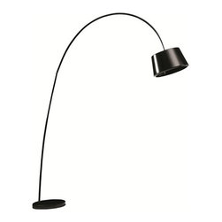 Lemoderno - Fine Mod Imports  Estal Floor Lamp, Black - With its sleek look the Estal Floor Lamp will give you light where you need it and will blend in to any rooms decor. Type of bulb: E26, Maximum Watt: 60W,  Bulb not included Made of aluminum and marble  Assembly Required