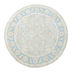 1800-Get-A-Rug - Washed Out Round Sultanabad Hand Knotted Rug Sh11892 - About Oushak and Ziegler Mahal