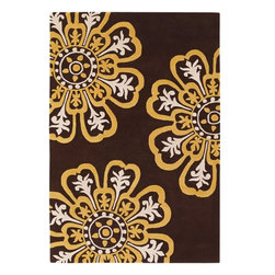 Chandra - Chandra Counterfeit Modern / Contemporary Hand Tufted Floral Rug X-60197-00281UO - Chandra Counterfeit Modern / Contemporary Hand Tufted Floral Rug X-60197-00281UOC