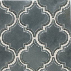 Mission Stone Tile - Beveled Arabesque Tile - White, Up in Smoke, 1 Square Ft. - Beveled Arabesque Tile - Up In Smoke
